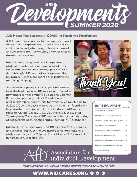 Summer 2020 Newsletter Cover