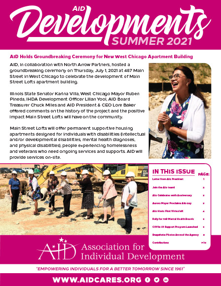 AID Summer 2021 Newsletter cover