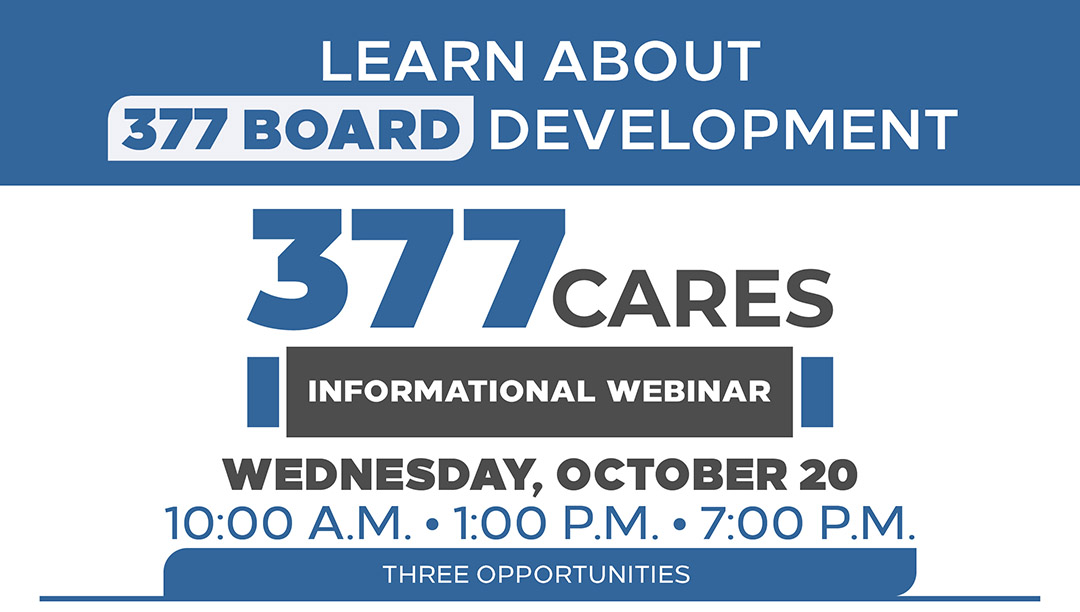 Learn about 377 Cares Board Development