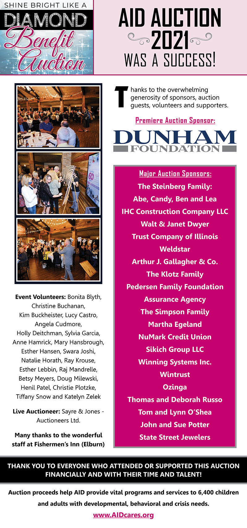 Thank You for a Successful Benefit Auction